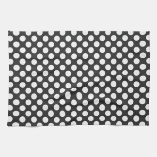 Black and White Polka Dots Kitchen Towel