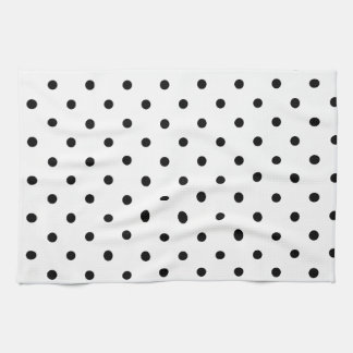 Black and White Polka Dots Kitchen Towels