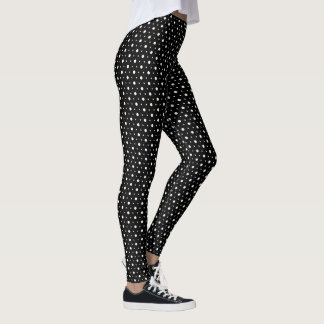 Black and White Polka Dots Leggings