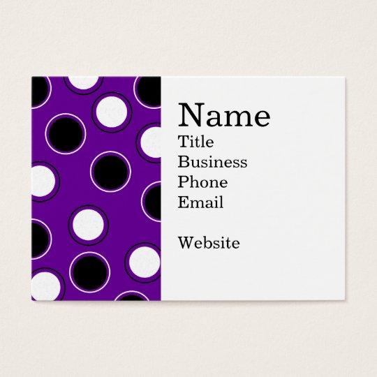 Black and White Polka Dots on Purple Circles