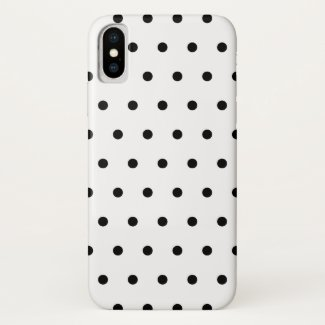 Black And White Polka Dots Pattern Case-Mate iPhone Case