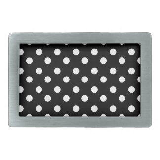 Black and White Polka Dots Pattern Gifts Rectangular Belt Buckles