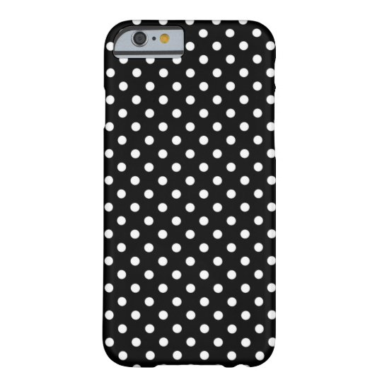 Black and White Polka Dots Pattern Girly Barely