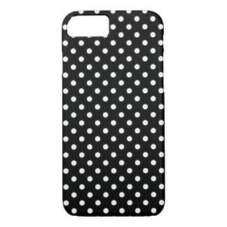 Black and White Polka Dots Pattern Girly iPhone 7 Case