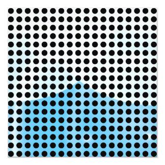 Black and White Polka Dots Pattern 13 Cm X 13 Cm Square Invitation Card