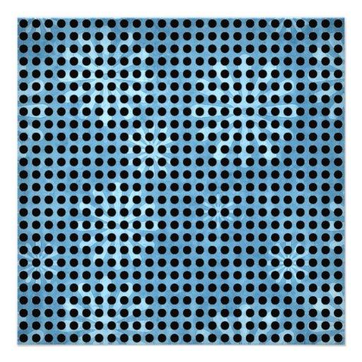 Black and White Polka Dots Pattern Custom Invites