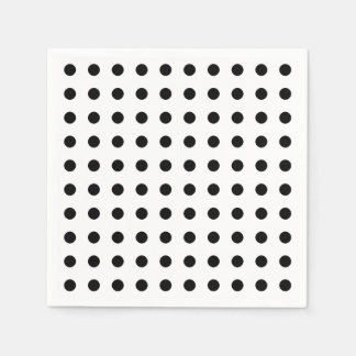 Black and white polka dots pattern paper napkins disposable napkin