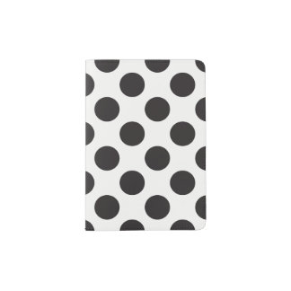 Black And White Polka Dots Pattern Passport Holder