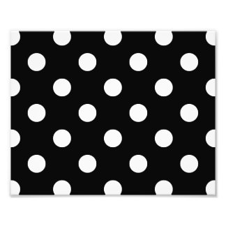 Black and White Polka Dots Pattern Photo Print