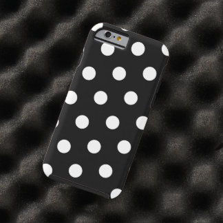 Black And White Polka Dots Pattern Tough iPhone 6 Case
