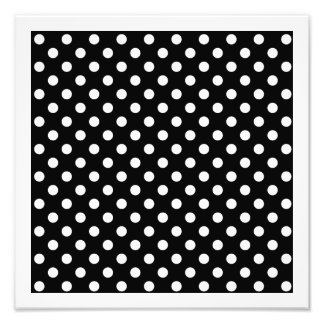Black and White Polka Dots Photo Art