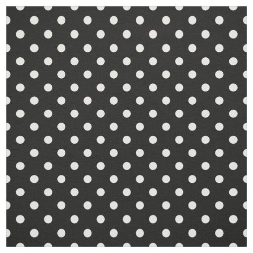 Black and White Polka Dots Print Pattern Fabric