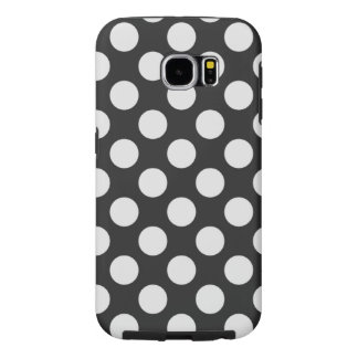Black and White Polka Dots Samsung Galaxy S6 Cases