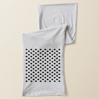 Black and White Polka Dots Scarf