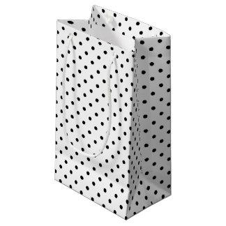 Black and White Polka Dots Small Gift Bag