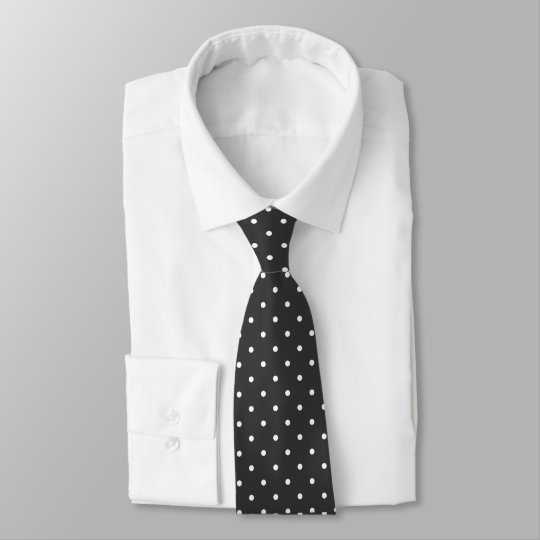 Black And White Polka Dots Tie
