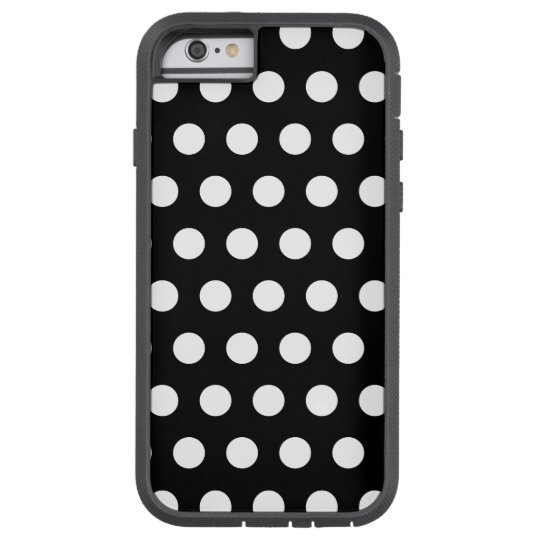 Black and White Polka Dots Tough Xtreme iPhone