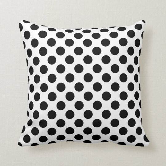 Black and White Polka Dots - Turn Pillow