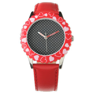 Black and White Polka Dots Wristwatches