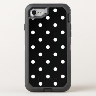 Black and White Polka Pattern OtterBox Defender iPhone 7 Case