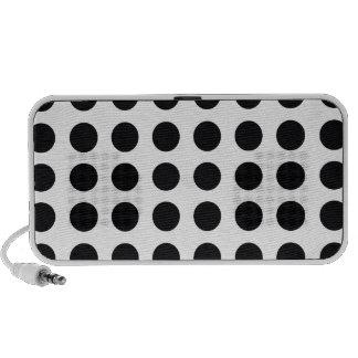 black and white polkadot dream portable speakers