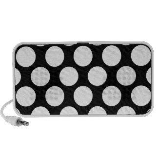Black and White Polkadot Travelling Speaker