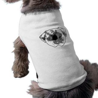 Black and white posterized pug doggie tshirt