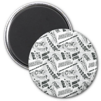 Black and White Pow! 6 Cm Round Magnet