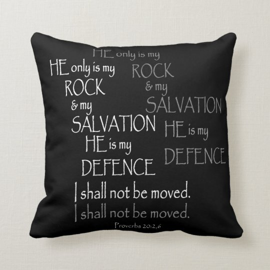 Black and White Proverbs Bible Verse Typography Cushion