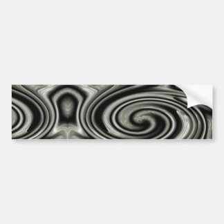 Black And White Psychedelic Swirl Bumper Sticker
