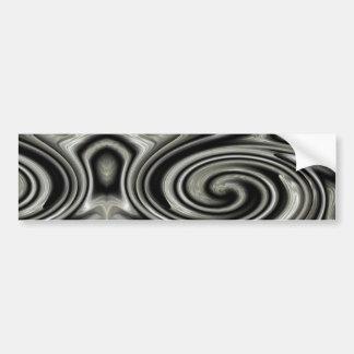 Black And White Psychedelic Swirl Bumper Sticker