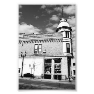 Black and White Quaint Downtown Hardware Store Photo
