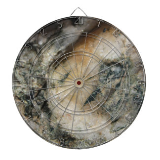 Black and White Quartz Mineral Texture Dartboard With Darts
