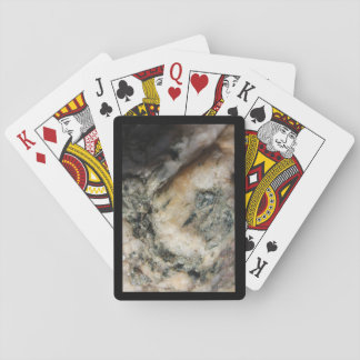 Black and White Quartz Mineral Texture Playing Cards