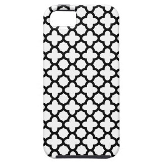 Black and White Quatrefoil Tough iPhone 5 Case
