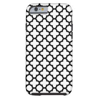 Black and White Quatrefoil Tough iPhone 6 Case
