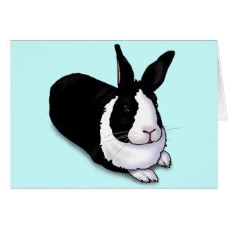 Black and White Rabbit Greeting Card