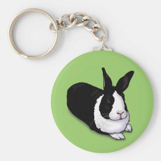 Black and White Rabbit Keychains