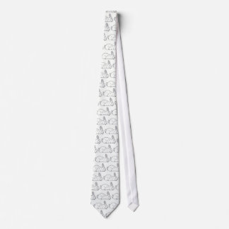 Black and White Rabbit Tie
