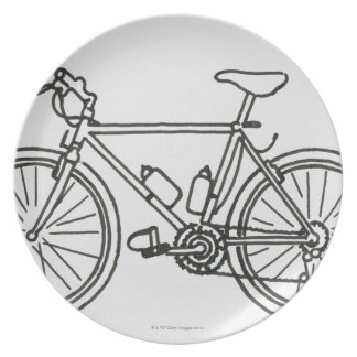 Black and White Race Plates