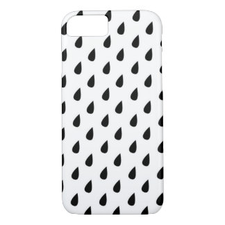 Black and White Rain Water Drops Phone Case