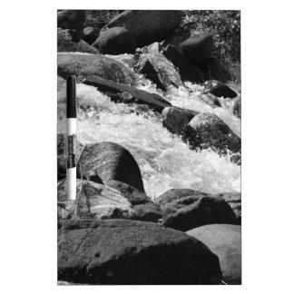 Black and White Rapids Dry-Erase Board