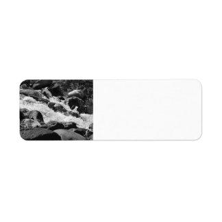 Black and White Rapids Return Address Label