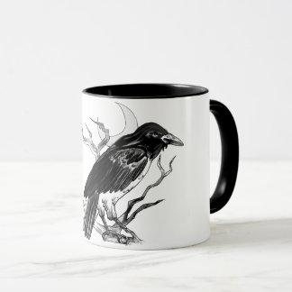 Black and White Raven Mug