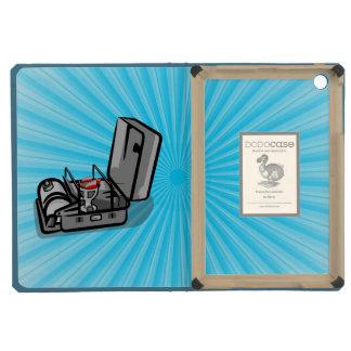 Black and White Retro Camp Stove iPad Mini Retina Cover