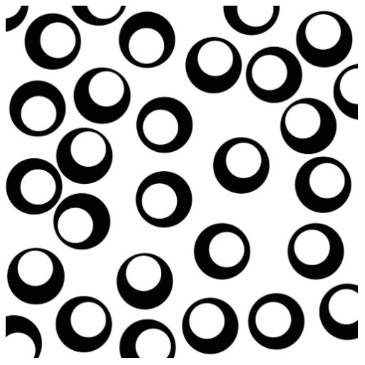 Black and White Retro Circles Pattern. Photo Cut Out