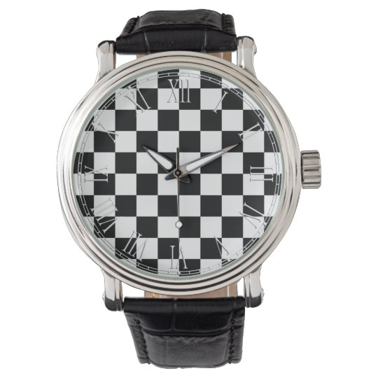 Black and White Retro Colourful Modern Watch