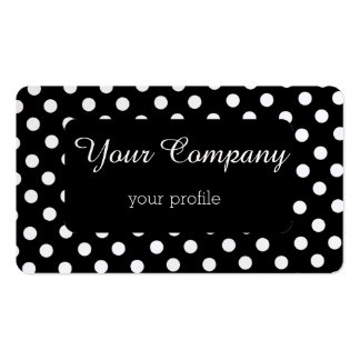 black and white retro polka pack of standard business cards