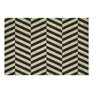 Black and White Retro Stripes Pattern Poster