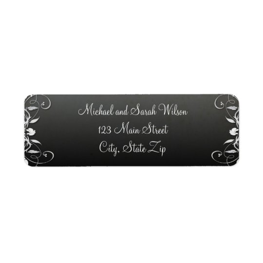 Black and White Return Address Labels